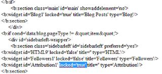 Menghapus Gadget Blog yang Dikunci