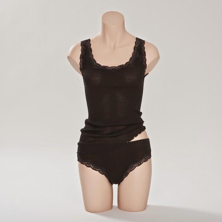 Wolle-Seide Unterhemd Boracay schwarz von Gattina