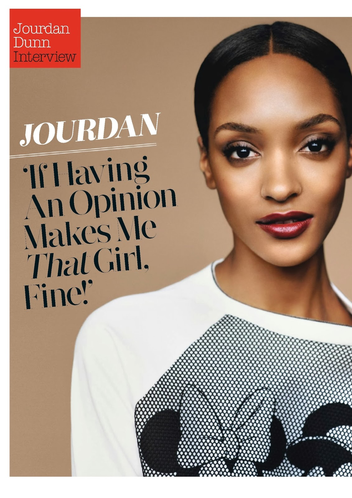 Jourdan Dunn HQ Pictures Look UK Magazine Photoshoot February 2014