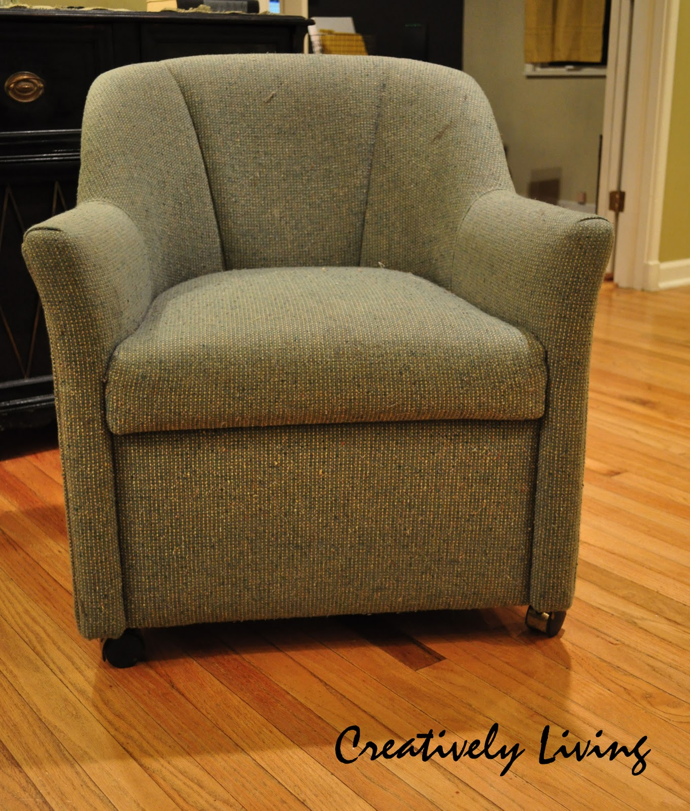 fabric paint for furnitureThe LowDown on Painting Upholstered Chairs  Creatively Living Blog
