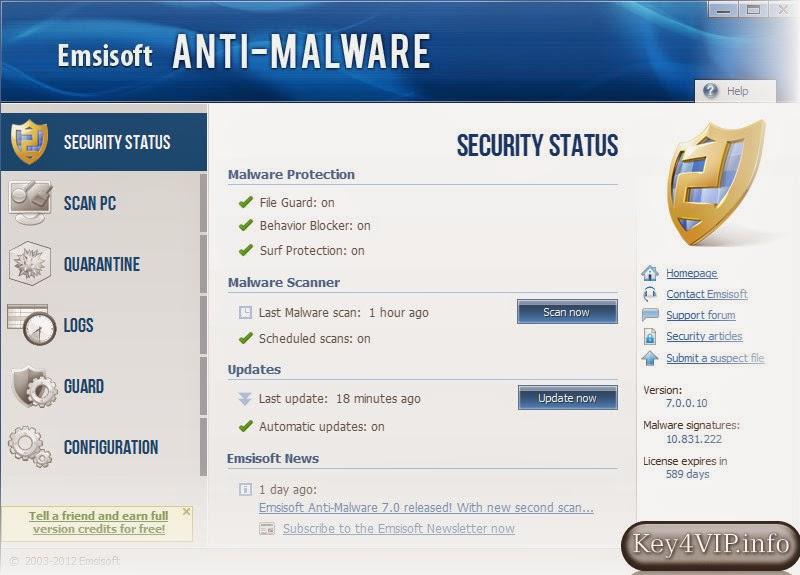 Emsisoft Anti Malware 9.0.0.4142 Full,Phần mềm diệt malware hiệu quả