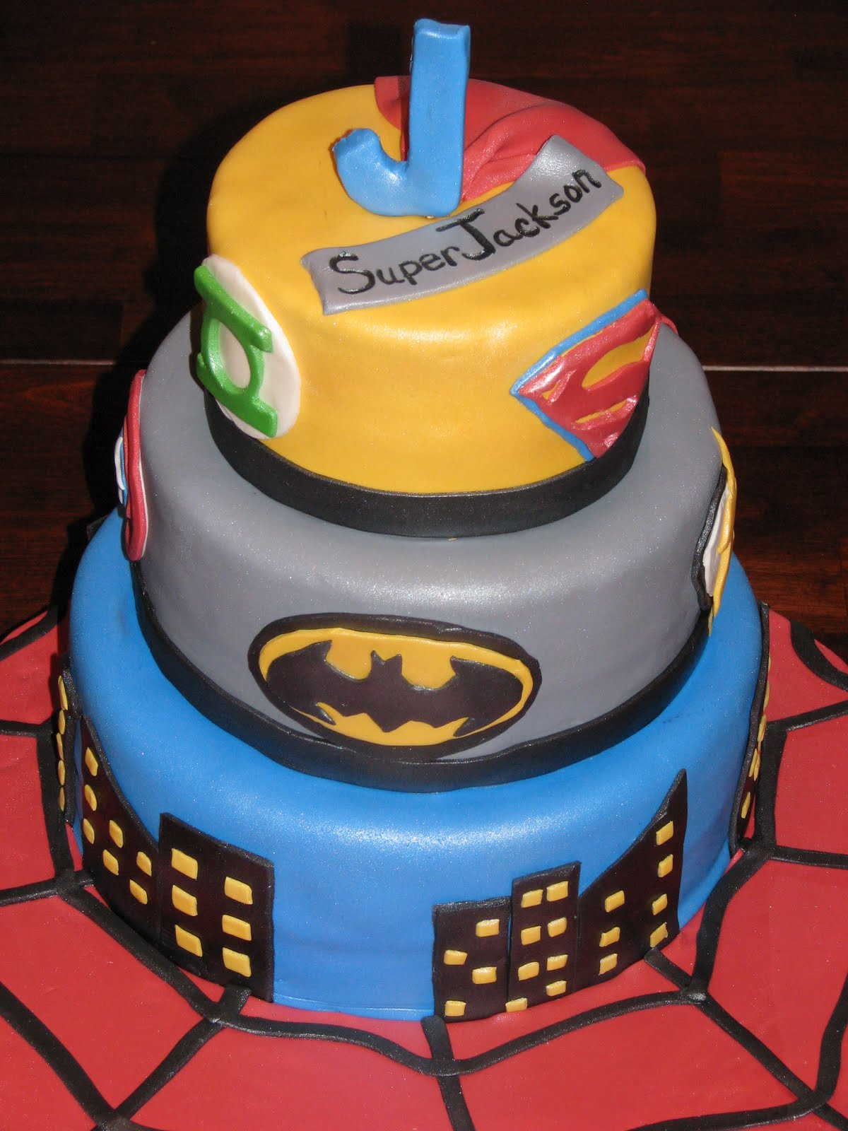 Bake me a Cake Superheroes Cake