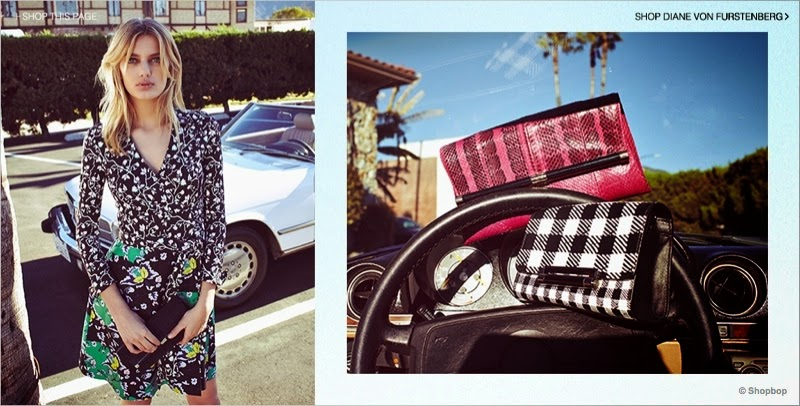 Shopbop showcases DVF designs for its Spring/Summer 2015 Lookbook with Bregje Heinen