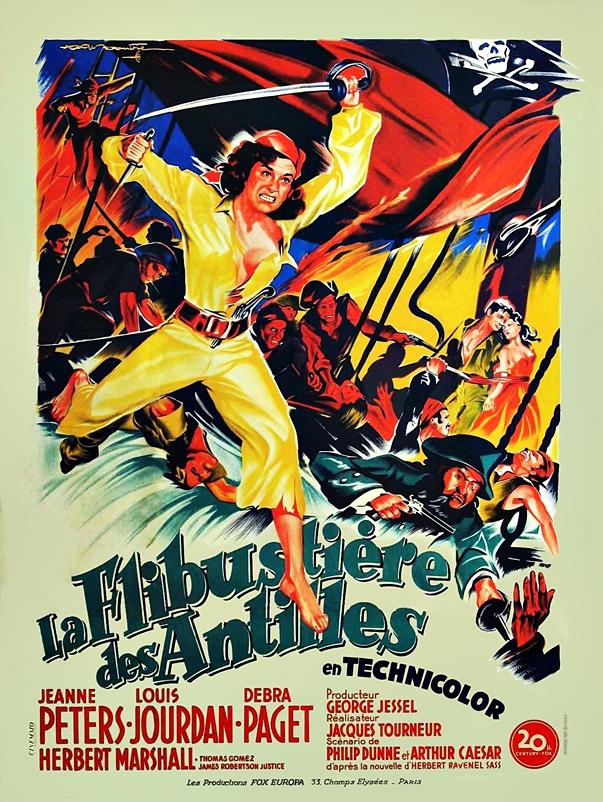 Póster de La mujer pirata (1951)