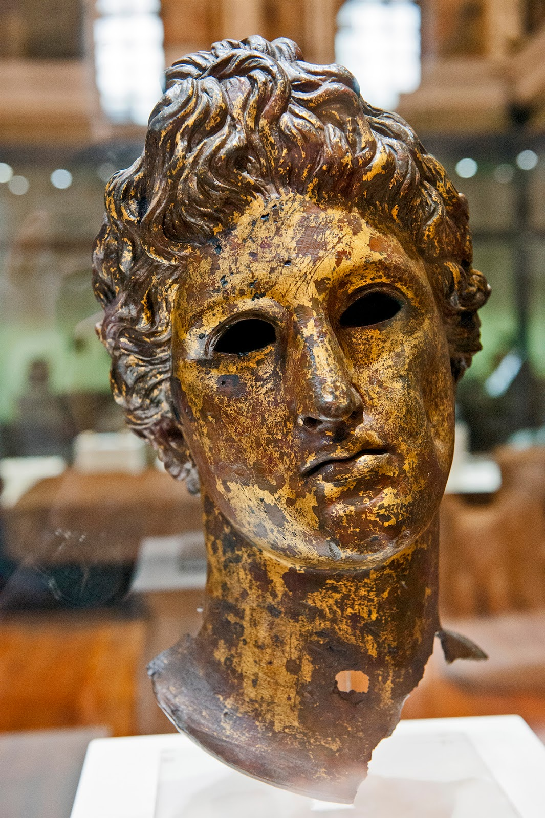 A Thracian mask in Sofia, Bulgaria