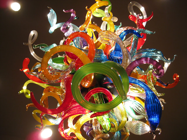 Multi-color Chihuly Chandelier