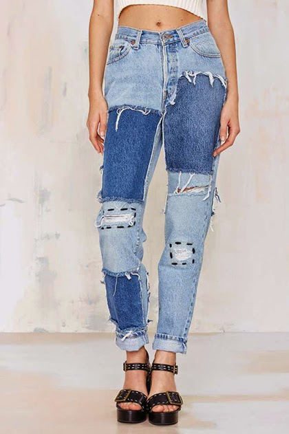 Trending Fashion 2015 - Patched Jeans