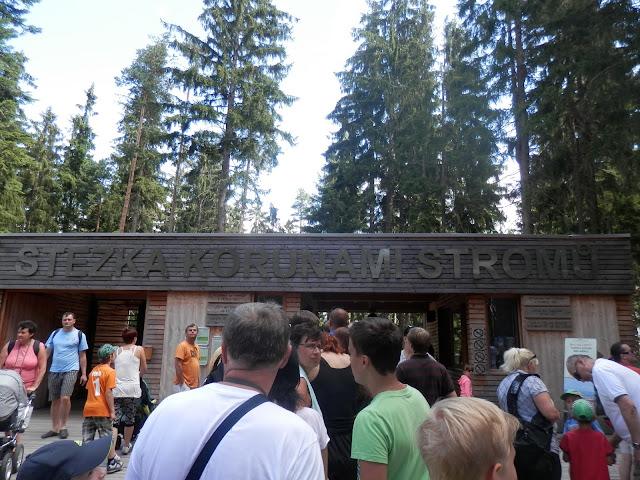 Stezka korunami stromů - pokladna // Treetop Walkway - ticket office