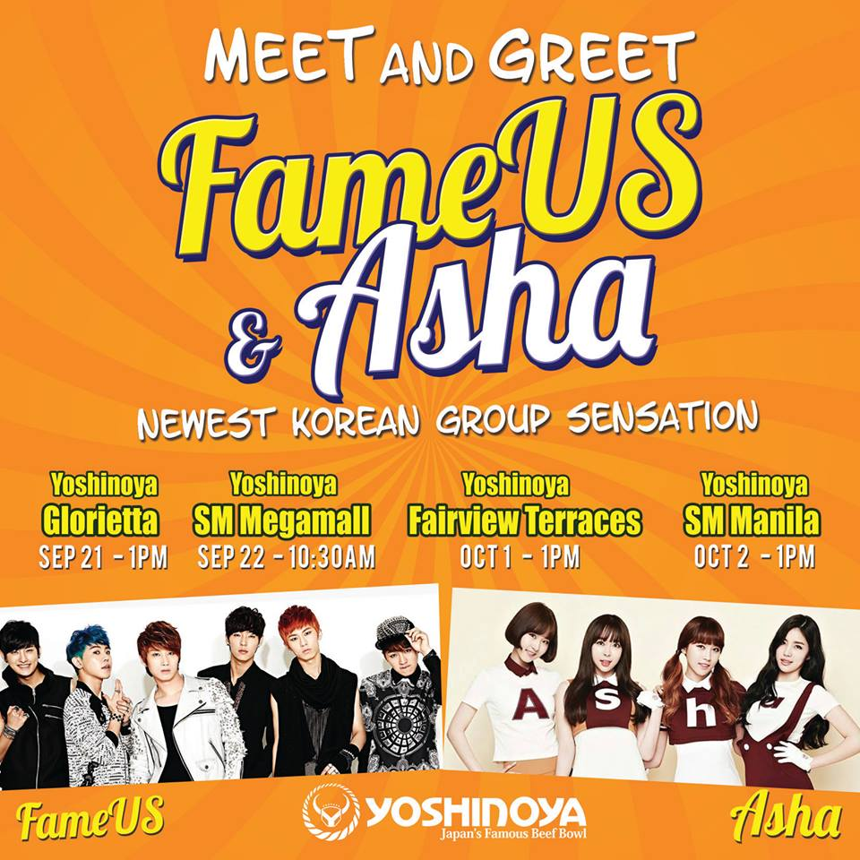 Asha and fameus meet and greet at yoshinoya glorietta branch if you have read my post regarding asha and fameuss activities well heres a taste of what happened yoshinoya held asha and fameus meet and greet at stopboris Gallery