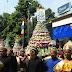 Bhakti Adhyaaksa ke 55, 6 Gunungan Hasil Bumi diarak dari Mapolsek Kota ke Kantor Kejaksaan Klaten.