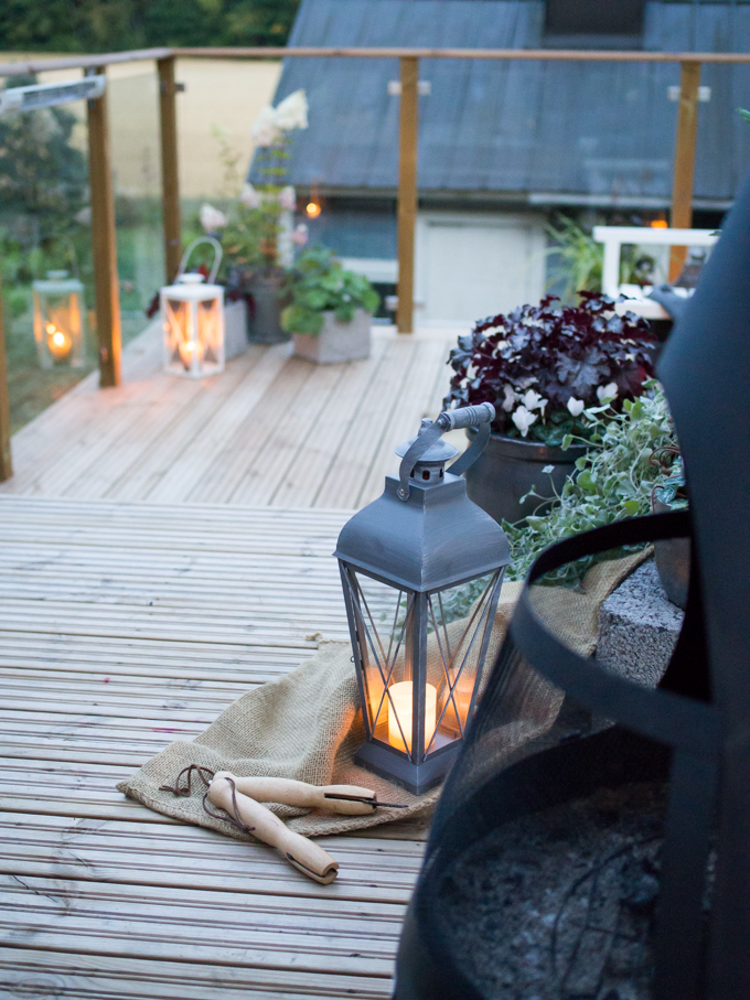 lasikaide terassilla, peltomaisema, kaunis terassi, iso terassi, terassi-istutukset