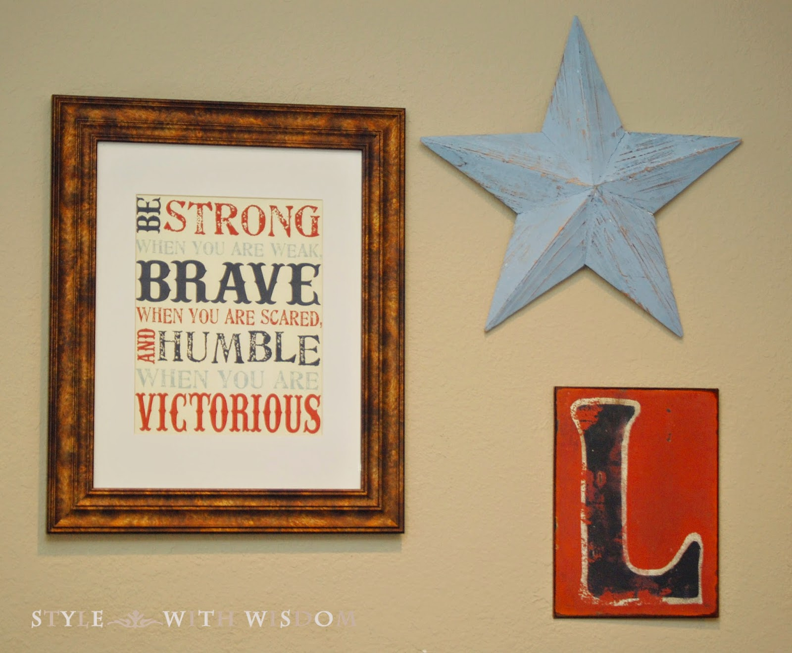 Be Brave free printable download
