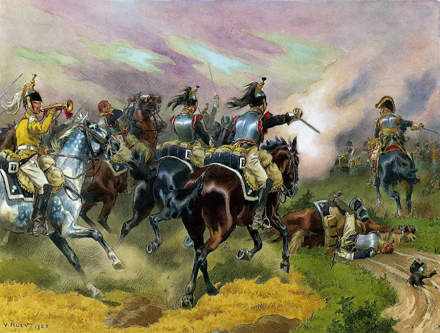 Наполеоновские войны. Атака кирасир. 1809
