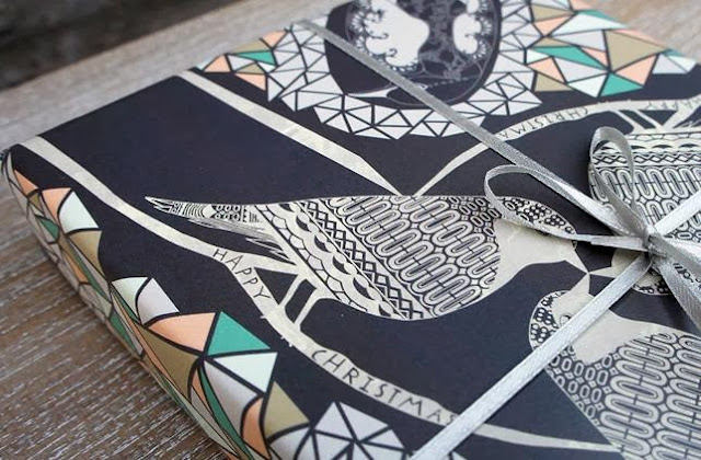 Winter Birds Wrapping Paper