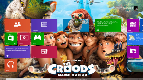 The Croods Theme For Windows 8