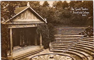Vintage postcard of the Greek Theatre, Bradfield College