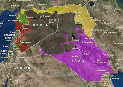 シリア 地図 イスラム国 トルコ クルド 分布