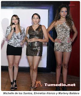Michelle de los Santos, Elvireliza Alonzo y Marleny Baldera