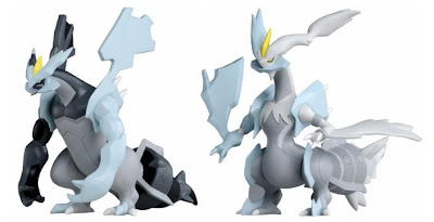Pokemon Soft Vinyl Figure Black Kyurem White Kyurem Tomy