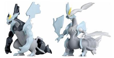 Pokemon Soft Vinyl Figure Black Kyurem White Kyurem Tomy
