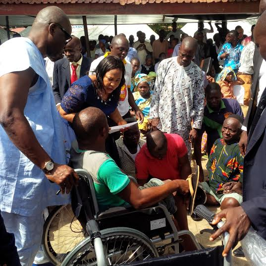 Governor Fayose gives automatic employment to 10 disabled people and 35 wheelchairs