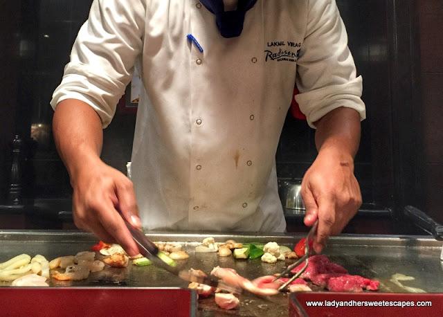 live cooking at Minato Dubai