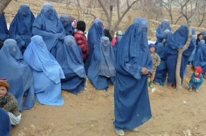 Afghani women listening to talk