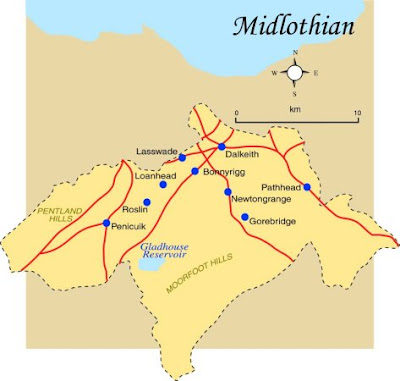 Map of Midlothian Province Area