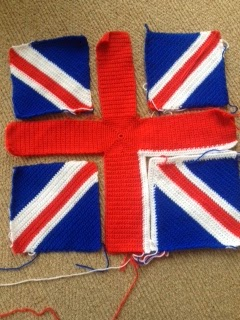 Crafting a Lifetime: St Georges Cross & Union Jack Crochet Cushion