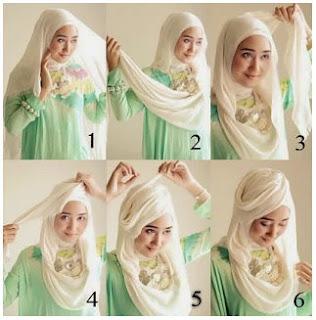 Contoh Tutorial Hijab Modern ala Dian Pelangi