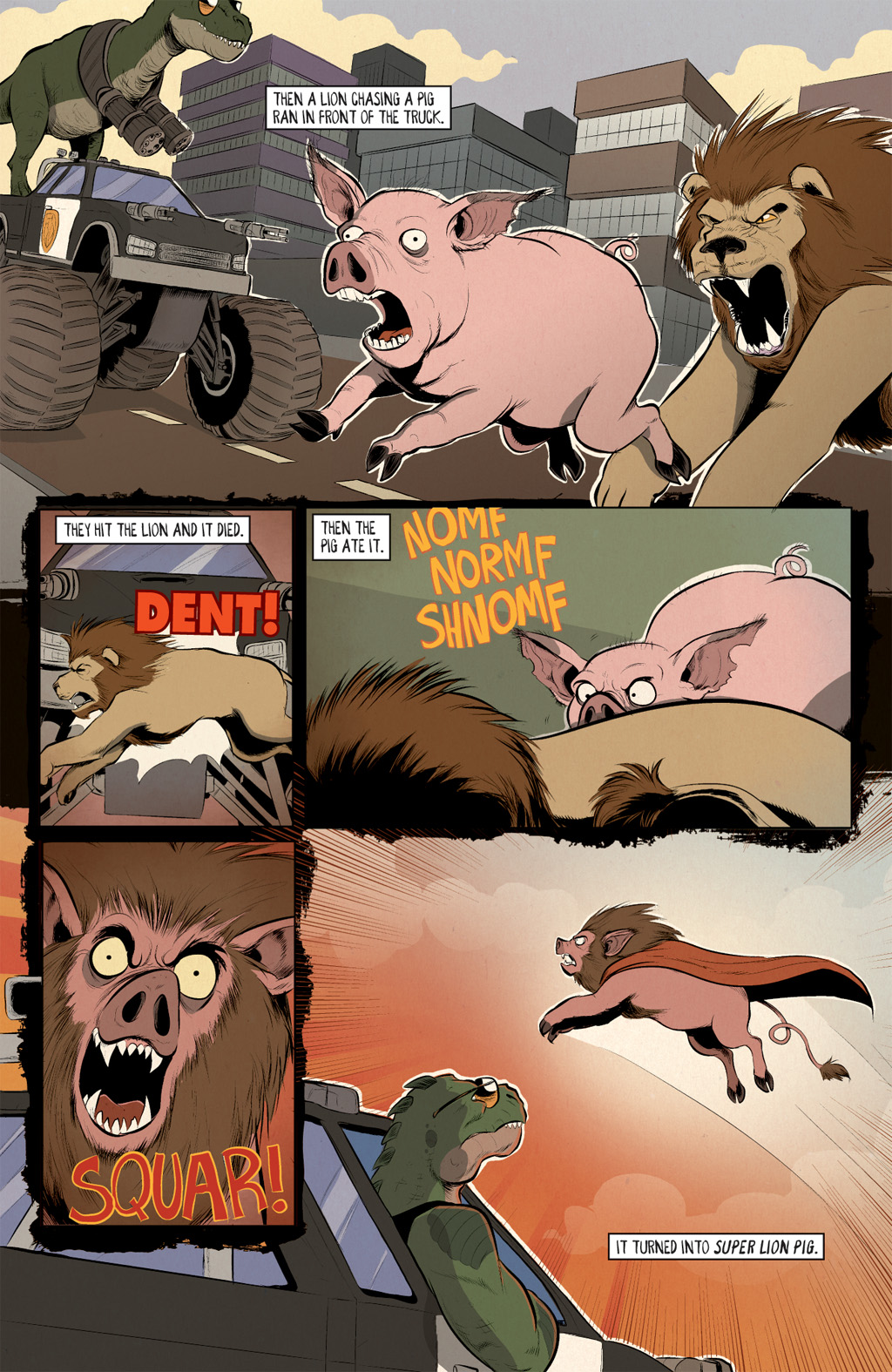 Read online Axe Cop: Bad Guy Earth comic -  Issue #2 - 19