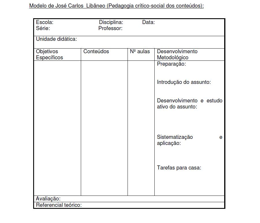 Plano De Aula   Modelo De Jos   Carlos Lib  Neo