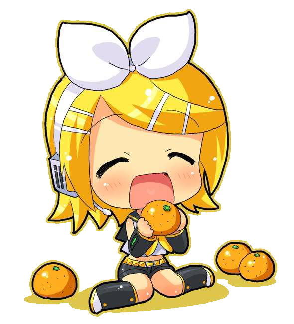PNG-Kagamine Rin // Naranjas