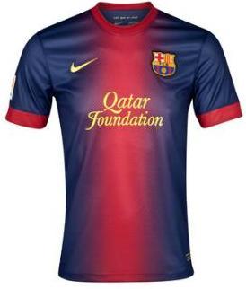 Kostum Tim Barcelona musim 2012/2013