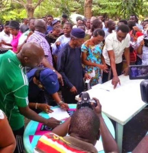 Prof. Osinbajo And Wife Get Accredited In VGC, Lagos
