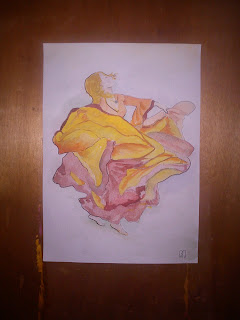 flamenco water painting by metris