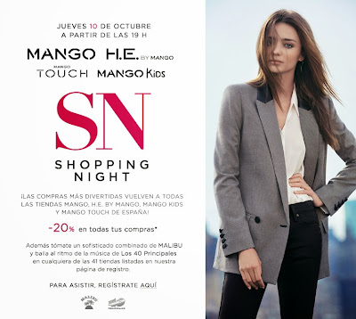 MANGO SHOPPING NIGHT OCTUBRE 2013