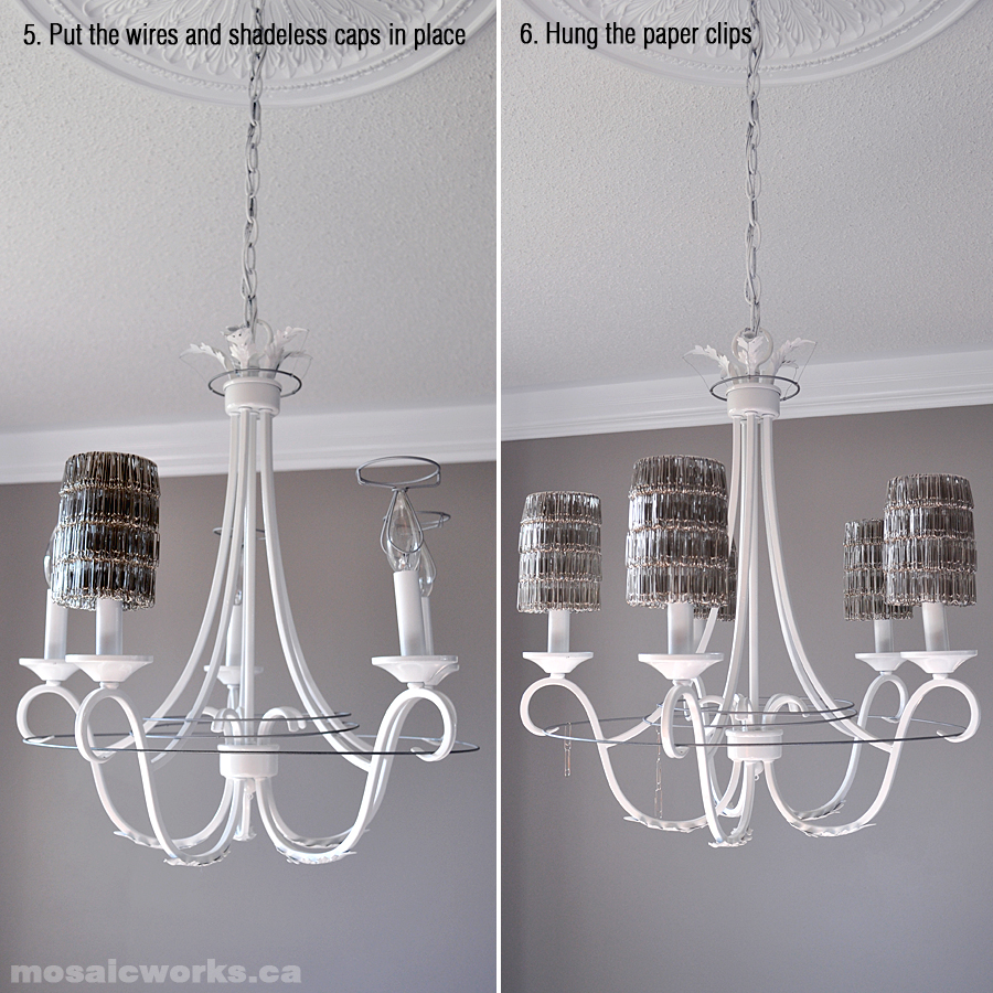 Mosaicworks making the paper clip chandelier viewed from underneath arubaitofo Image collections