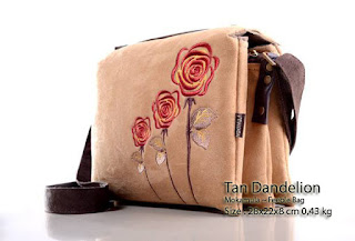 Jual online Tas Selempang/ sling bag Wanita Unik Mokamula Asli Bahan Beludru - Feeble