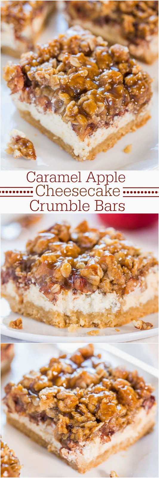 http://www.averiecooks.com/2014/10/caramel-apple-cheesecake-crumble-bars.html