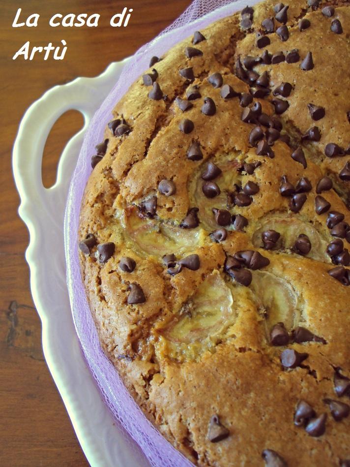 La casa di art torta banana cioccolato e yogurt for Torta di mele e yogurt fatto in casa da benedetta