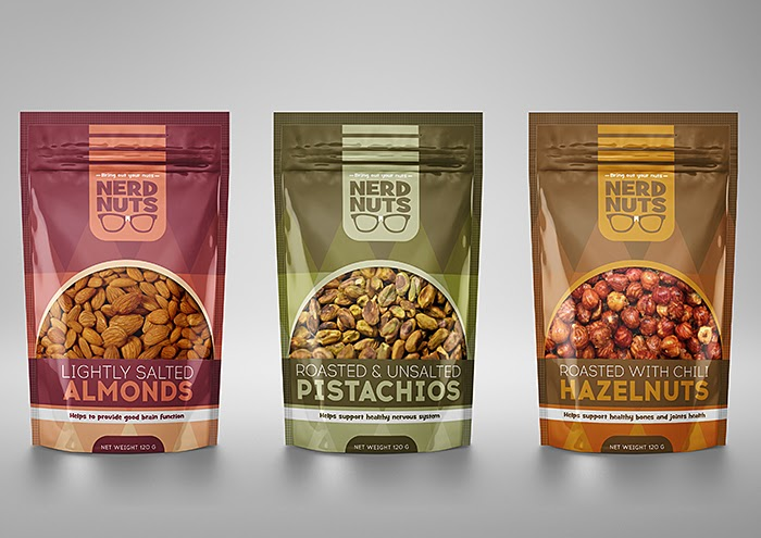 Nerd Nuts Concept On Packaging Of The World Creative