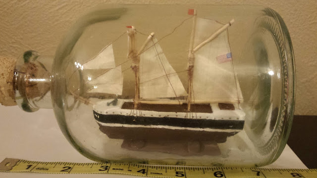 ship in a bottle finished