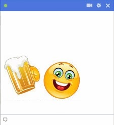 smiley facebook beer