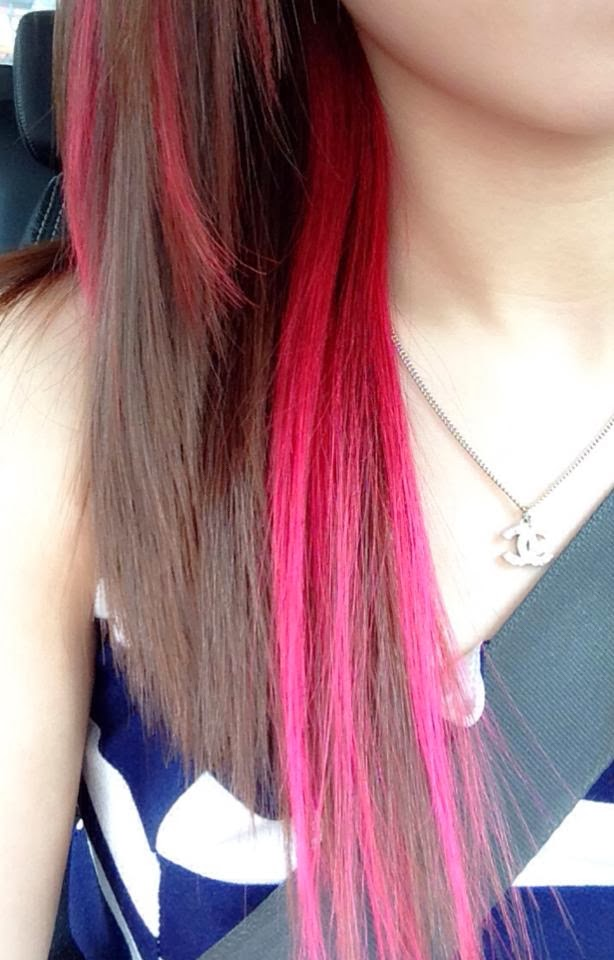 Life Beauty Food Hot Pink Highlight Bliss Hair Salon