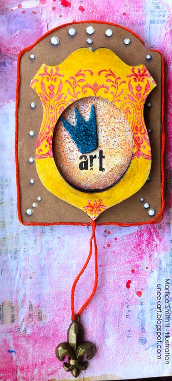 Stampendous Stack Art Challenge art by Mixed media artist Martice Smith II