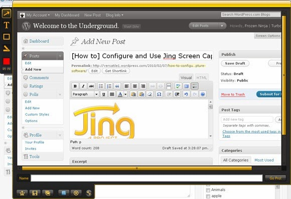 Jing screen capture