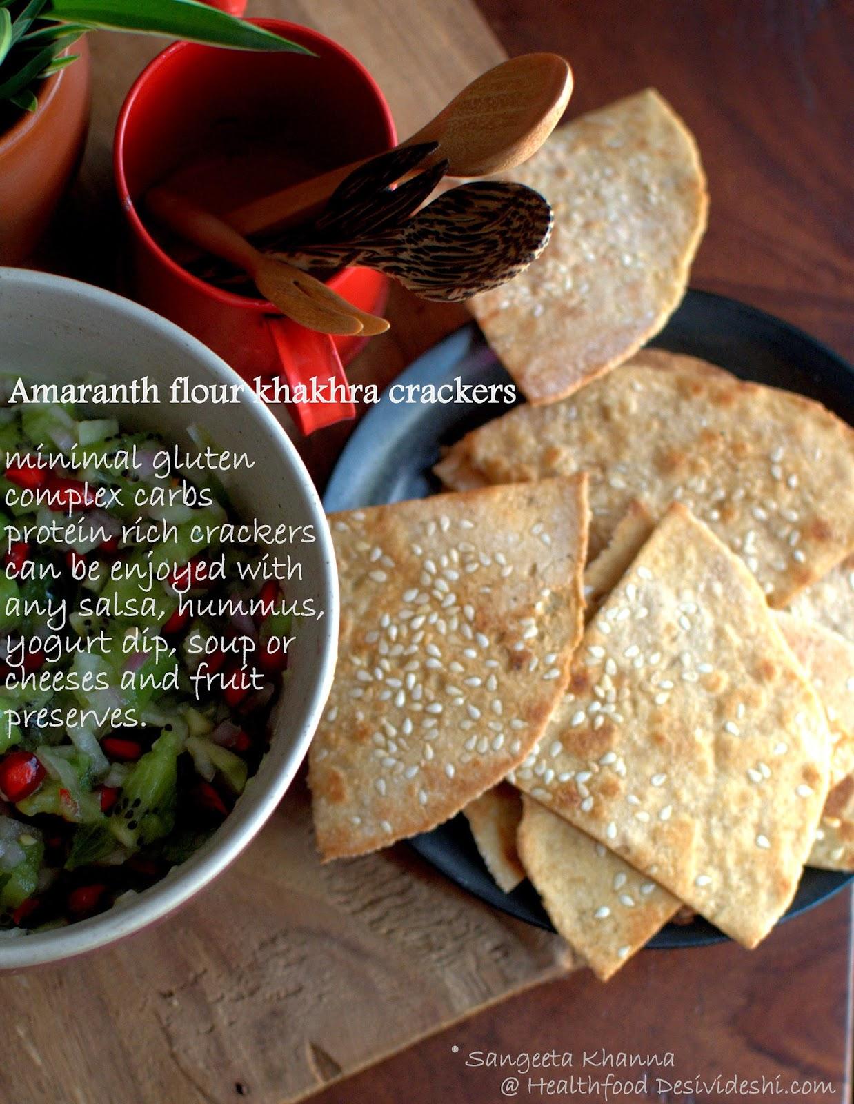 amaranth flour khakhra