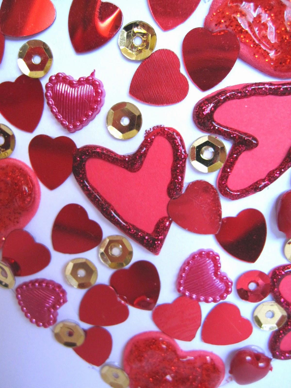 detalle tarjeta CORAZÓN de San Valentín scrapbooking