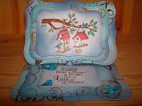 Card made using Home Tweet Home digital stamp